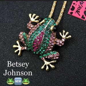 Betsey Johnson Frog Necklace 🐸🆕🐸